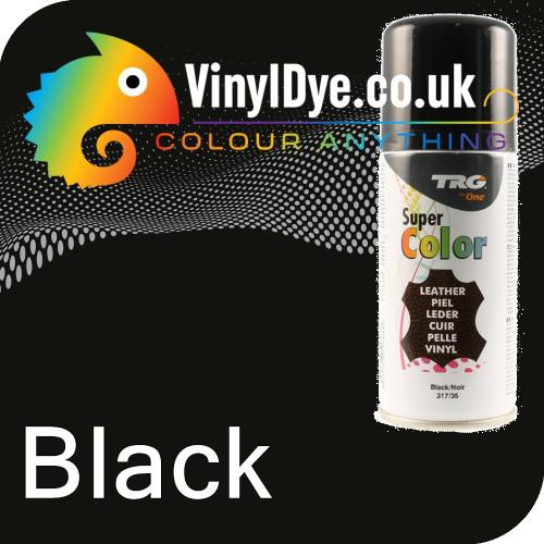 TRG Black Vinyl Dye Plastic Paint Aerosol 150ml or 400ml 317