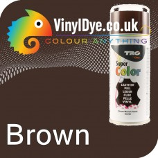 TRG Brown Vinyl Dye Plastic Paint Aerosol 150ml