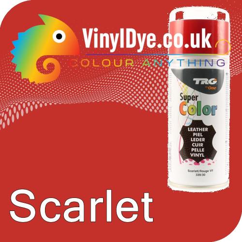 TRG Scarlet (Red) Vinyl Dye Plastic Paint Aerosol 150ml 339