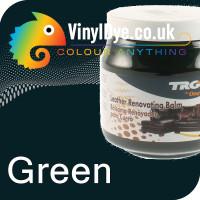 TRG leather dye restore and repair food Green 300ml