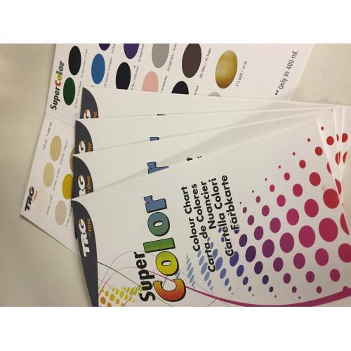 Vinyl, Leather, Plastic Dyes TRG Colour Chart (Sprays)