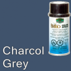 Charcol Grey Brillo Aerosol 150ml Vinyl Dye Plastic Paint