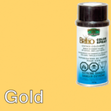 Gold Brillo Aerosol 150ml Vinyl Dye Plastic Paint