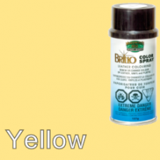 Yellow Brillo Aerosol 150ml Vinyl Dye Plastic Paint