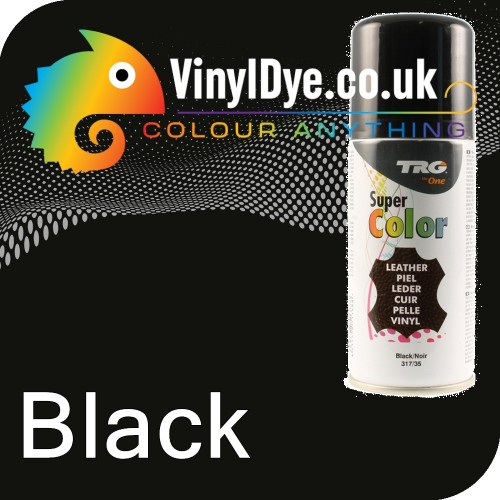 Trg Black Vinyl Dye Plastic Paint Aerosol 150ml Or 400ml