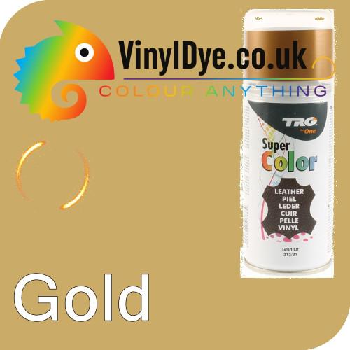 TRG Gold Vinyl Dye Plastic Paint Aerosol 150ml 313