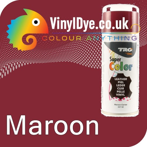 TRG Maroon (Cerise / Red) Vinyl Dye Plastic Paint Aerosol 150ml 337