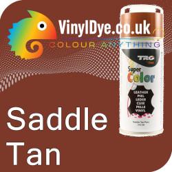 TRG Saddle Tan Vinyl Dye Plastic Paint Aerosol 150ml 310