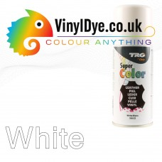 TRG White Vinyl Dye Plastic Paint Aerosol 150ml or 400ml