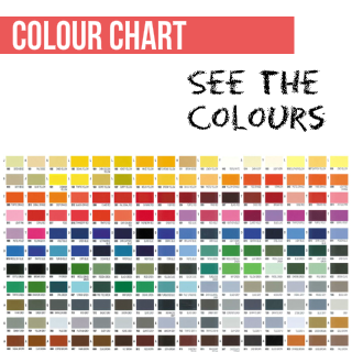 Colour Chart for Vinyl Dye Colours to paint plastic, leather, vinyl