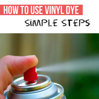 How to use vinyl dye and change the colour of plastic, leather and vinyl