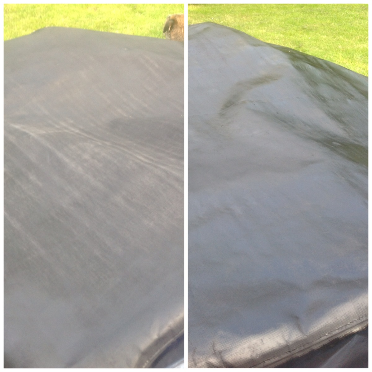 Before and After Vinyl Canal Boat Hood